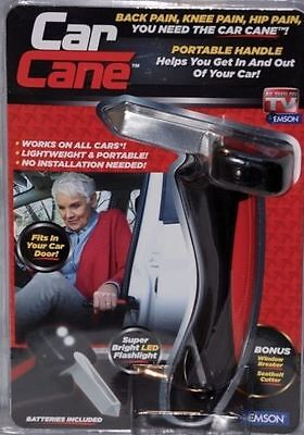 Car Cane Pack Handle Portable Mobility Aid Flashlight Glass Breaker Belt Cutter