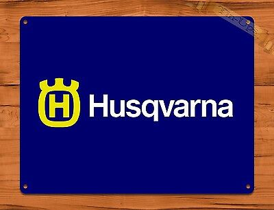 "TIN-UPS TIN SIGN ""Husqvarna Chainsaw Blue"" Oil Garage Vintage Wall Decor"