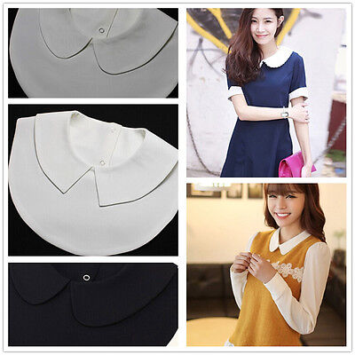 Girl Women Blouse Detachable Fake Collar Dickey Shirt Pan Fashion Collar Tips