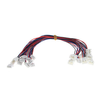10 Pc JST-XH Plug 3S Lipo Balance Wire Extension Lead 30cm For RC Car Boat Plane