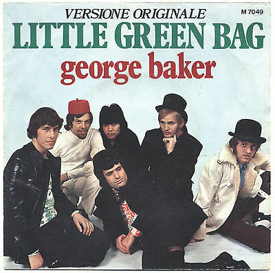 SOLO COPERTINA - COVER ONLY - GEORGE BAKER - Little green bag - ITA 1970