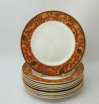 """Set of TEN Wedgwood Persia 6"""" Bread & Butter Plates"""