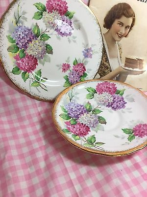 Vintage Royal Stafford Carousel Lonely Saucer & Plate From Trio