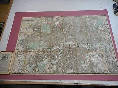 100% Original London Folding Map On Linen By Reynolds C1862 Railways
