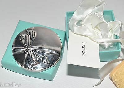 Authentic Tiffany & Co. Silverplate Vintage Art Deco Ribbon Bow Mirror - Use