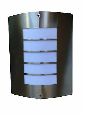 LED 2 Outdoor Wall Mounted stainless steel lamps Sconce Lights + FREE LED GLOBES