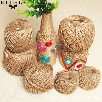 New 50M Jute Burlap Ribbon Wrap Gift Link Paper Tag Twine Rope Cord String DIY