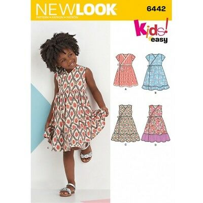 New Look Child's Easy Wrap Dresses Sewing Pattern 6442