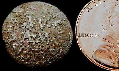 S636: 1657 (Cromwell) Trade Token: Anthony Wiseman, Winchester.  Hamps.233
