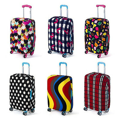 Durable Elastic Luggage Cover Suitcase Carrier Protective Random Color S Size