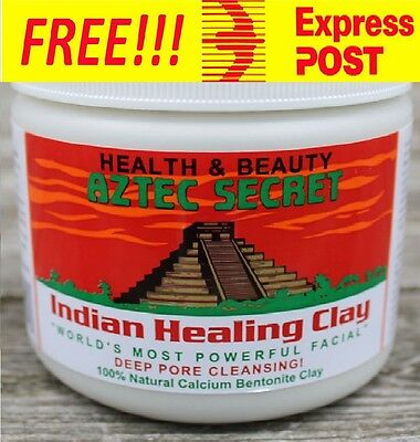 Aztec Secret Indian Healing Clay Facials Acne Pore Cleansing Free Express Post