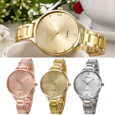 Fashion Women Ladies New Watch Stainless Steel Analog Quartz Dial Wrist Watch