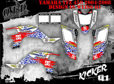 Scrub Dekor Kit Atv Yamaha Yfz 450 2004-2014 Graphic Kit Kicker  B