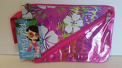 NWT Swimsuit Bag by Pool Party - Multi Colored Flowers - Lined