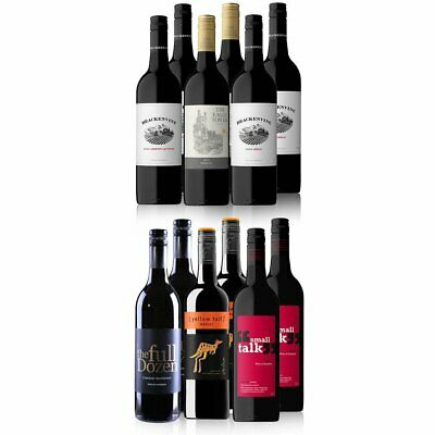 RRP $189 Over 2100 SOLD!AU Red Mixed Wine Featuring Yellowtail Merlot(12x750ml)