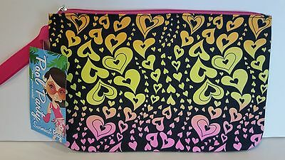 NWT Swimsuit Bag by Pool Party - Multi Colored Hearts - Lined