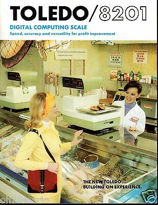 Vintage 1974 Toledo Scale  Model 8201 Digital Computing Scale 4 Page  Brochure