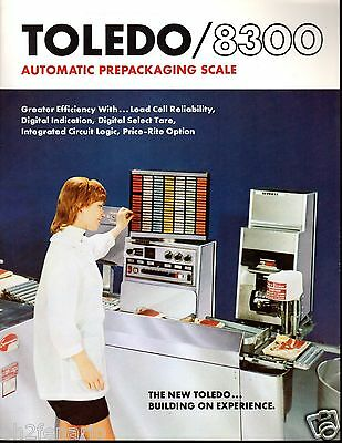 Vintage 1974 Toledo Scale  Model 8300 Prepackaging Scale 4 Page  Brochure