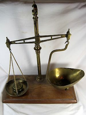 Edwardian Brass Balance Beam  Scales by Pike & Elliman