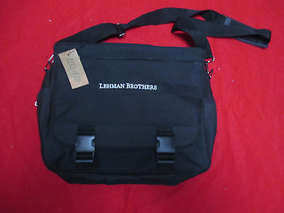 Lehman Brothers Ultra Rare Vintage All Purpose Messenger Canvas Bag New With Tag