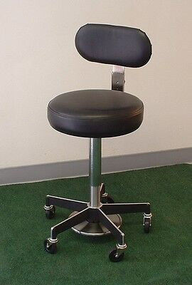 Insta-Just Medical stool with back - Foot Operated