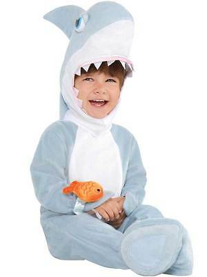 Child Toddler Baby Shark Attack Fancy Dress Costume Book Week Jaws Kids 0-24M