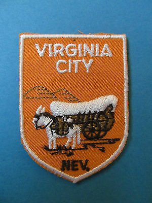 Vintage Virginia City Nevada Hat Jacket  Vest Travel Patch