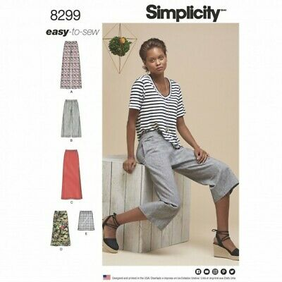 Simplicity Sewing Pattern Misses' Skirts or Trousers in Various Lengths  8299