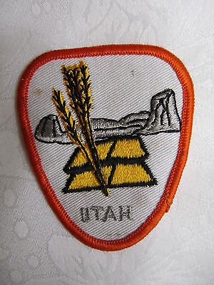 Vintage Collectible Travel State Patch Crest UTAH USA A