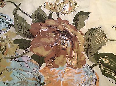 "1950s Schiaparelli Waverly Floral Home Decor Fabric Fortishan Mirabeau 54"" x 44"""