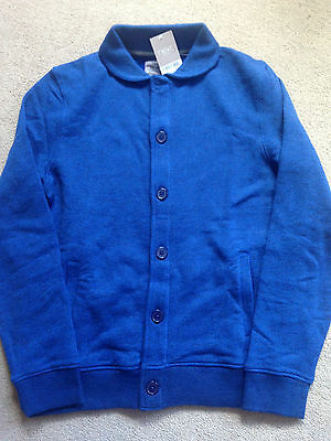 BNWT NEXT Boys Dark Blue Button Up Cardigan Jacket 14 Years