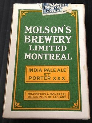 R1561.Molson Brewery unopened complete set of playing cards 1929 green version