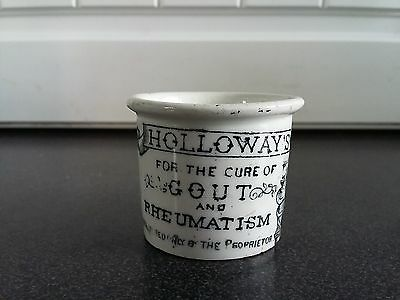 Victorian Holloway's Ointment Pot c1890 Antique London England Advertising