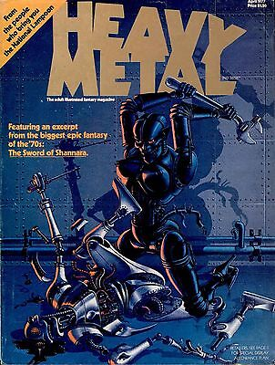 Heavy Metal Collection Of 200+ Sci-Fi Comics Magazines On Dvd