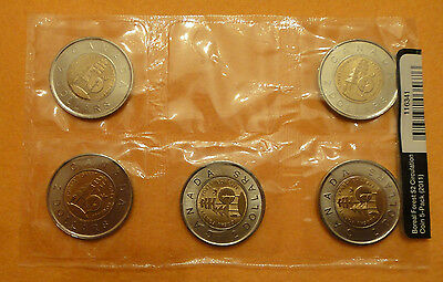 2011 Canada Boreal Forest $2 Circulation 5-Pack
