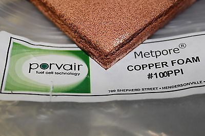 Copper Foam Metal Metpore Porvair Selee gas separation duocel fritted filter Cu