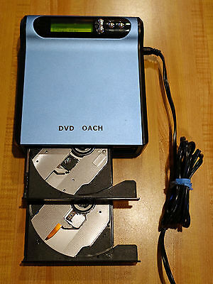DVD Coach 1 to 1 Portable CD/DVD Duplicator - EZ Dupe EZD880 - Stand Alone Use
