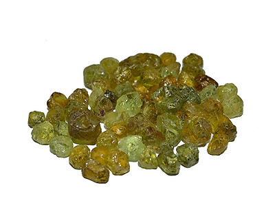Green Garnet Lot Rough 100% Clean Material For Faceting Mali 154.8 Carats