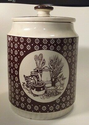 Enesco Country Kitchen 1978 Cannister ceramic tableware Made In Japan Vintage