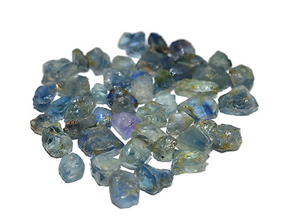 Gorgeous Sea Blue Sapphire Lot Mix Clean Material For Cutting 57.91 Carats