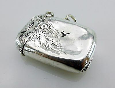 Antique Sterling Silver Matchsafes Vesta Box Case Chester 1903