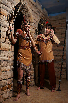 HGM COSTUME OUTLET Indian Couple / Complete Outfit /100% Polyester
