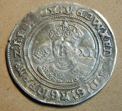 High Grade Tudor  Edward Vi  Undated Mint Mark Y (1551) Silver Shilling ..
