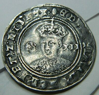 High Grade Edward Vi  Hammered Silver Shilling  Undated Mm  Tun Produced 1551 .