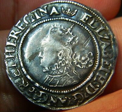 Tudor Period 1566 Elizabeth 1St Silver Sixpence Rose Beside Bust(44) Mm Coronet