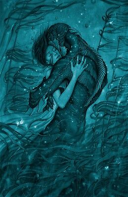"The Shape of Water Movie Poster Guillermo del Toro Film13x20"" 24x36"" 32x48"" #2"
