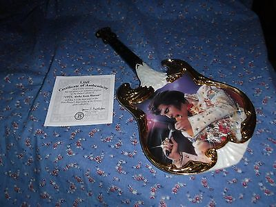 Elvis Presley Guitar Plate 1973 Aloha from Hawaii 1st Issue Entertainer Century
