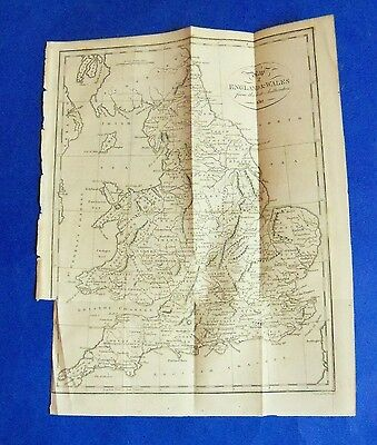 1812 antique map of ENGLAND & WALES, Hampshire, Norfolk, Oxford etc rare