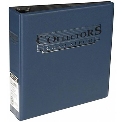 """ULTRA PRO 3"""" ALBUM RING Navy Blue BINDER w/ 100 PLAT. 9 POCKET PAGES SLEEVES"""
