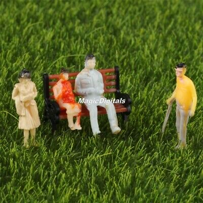 100pcs Painted Figures Model People for Railway Train Layout Scenery 1:100 Scale